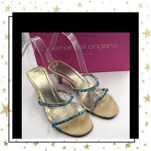 Emanuel Ungaro Designer Slide Heels Sandals 7.5